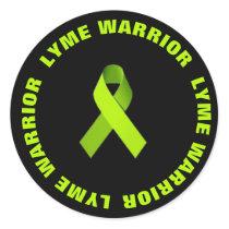 Lyme Warrior Ribbon Activism Awareness Sticker