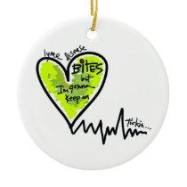 LymeAngels /  Lyme Bites! Ceramic Ornament