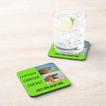 Lymohoma! Cancer Sucks! Beverage Coaster
