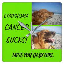 Lymohoma! Cancer Sucks! Square Wall Clock