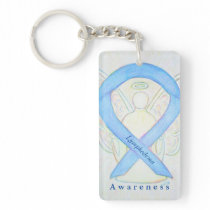 Lymphedema Angel Awareness Ribbon Keychain