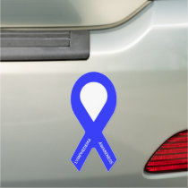 Lymphedema Awareness Blue Ribbon Car Magnet