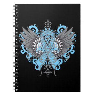 Lymphedema Awareness Cool Wings Spiral Notebook
