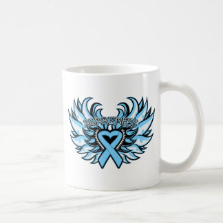Lymphedema Awareness Heart Wings Mugs