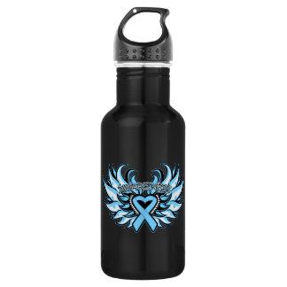 Lymphedema Awareness Heart Wings 18oz Water Bottle