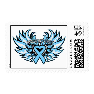 Lymphedema Awareness Heart Wings Postage