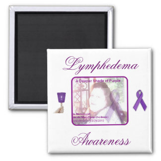 Lymphedema Awareness 2 Inch Square Magnet