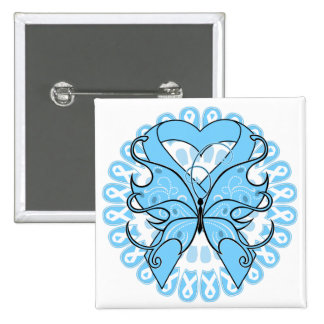 Lymphedema Butterfly Circle of Ribbons 2 Inch Square Button