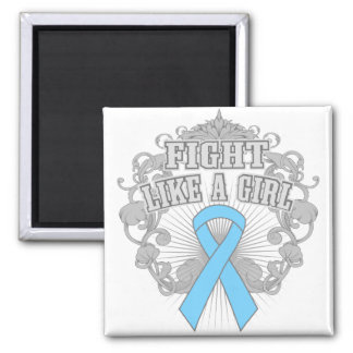 Lymphedema Fight Like A Girl Fleurish 2 Inch Square Magnet
