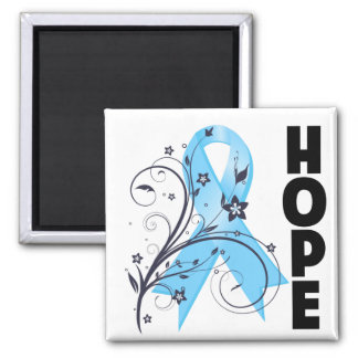 Lymphedema Floral Hope Ribbon 2 Inch Square Magnet
