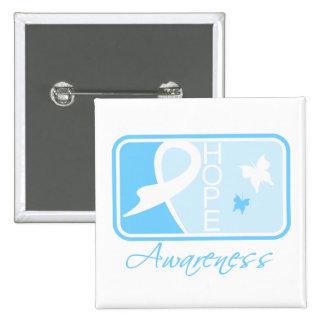 Lymphedema Hope Awareness Tile Pinback Button