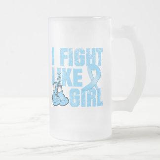 Lymphedema I Fight Like A Girl (Grunge) 16 Oz Frosted Glass Beer Mug