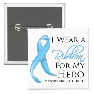Lymphedema I Wear a Ribbon For My Hero Pinback Button