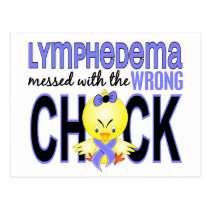 Lymphedema Messed With Wrong Chick Postcard