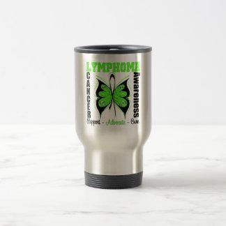 Lymphoma Awareness Butterfly Travel Mug