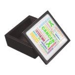Lymphoma Awareness Collage Premium Trinket Boxes