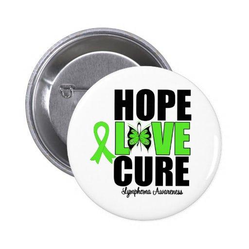 Lymphoma Awareness Hope Love Cure Pinback Buttons