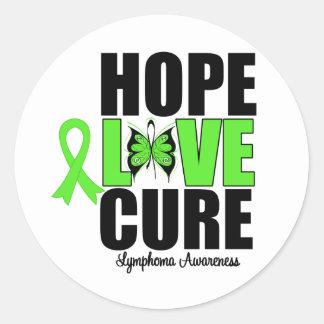Lymphoma Awareness Hope Love Cure Sticker