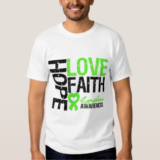 Lymphoma Awareness Hope Love Faith Tee Shirt
