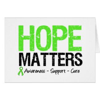 Lymphoma Awareness Hope Matters Greeting Card