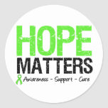 Lymphoma Awareness Hope Matters Classic Round Sticker