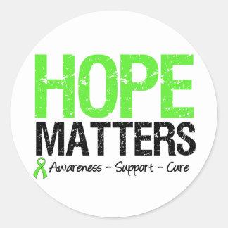 Lymphoma Awareness Hope Matters Round Stickers