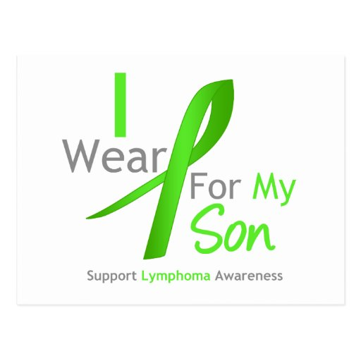 Lymphoma Awareness I Wear Lime Green For My Son Post Cards