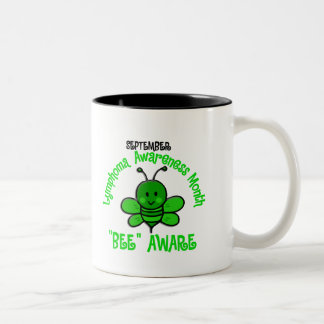 Lymphoma Awareness Month Bee 1.2 Two-Tone Coffee Mug