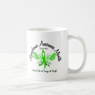 Lymphoma Awareness Month Butterfly 3.2 Coffee Mug