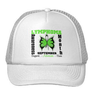Lymphoma AWARENESS Month Butterfly by Survivors Trucker Hats