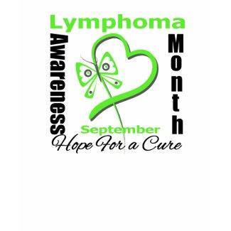 Lymphoma Awareness Month Butterfly Heart shirt