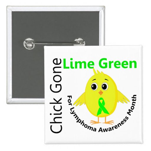 Lymphoma Awareness Month Chick 1 2 Inch Square Button