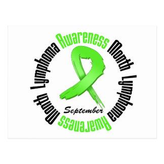 Lymphoma  Awareness Month Circular Postcard