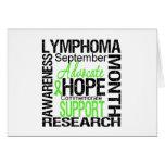 Lymphoma  Awareness Month Commemorative Greeting Card