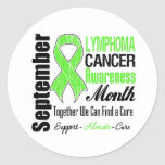 Lymphoma  Awareness Month Distressed Ribbon Sticker