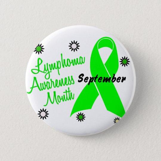 Lymphoma Awareness Month Flowers 1 Pinback Button