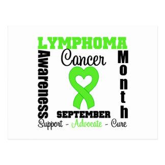 Lymphoma AWARENESS MONTH Heart Ribbon Postcard
