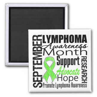 Lymphoma  Awareness Month 2 Inch Square Magnet