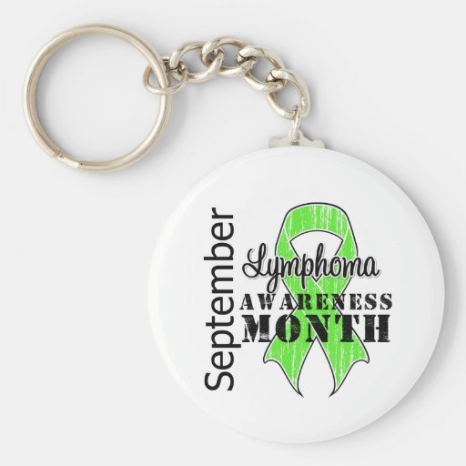 Lymphoma  Awareness Month Ribbon - September Key Chains