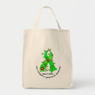 Lymphoma Awareness Non-Hodgkins FLOWER RIBBON 1 Tote Bag