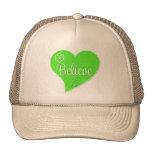 Lymphoma Believe Heart Hats