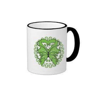 Lymphoma Butterfly Circle of Ribbons Coffee Mug