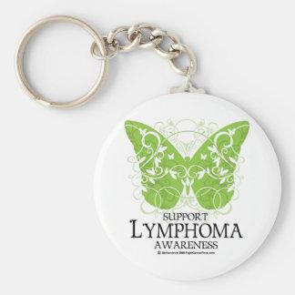 Lymphoma Butterfly Keychain