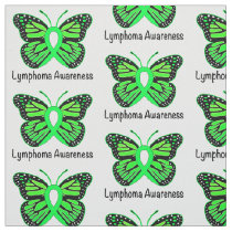 Lymphoma Butterfly of Hope Fabric