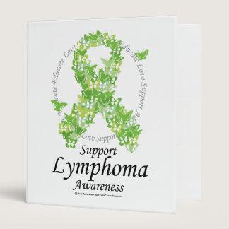 Lymphoma Butterfly Ribbon Binder