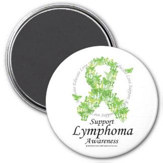 Lymphoma Butterfly Ribbon Magnet