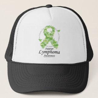 Lymphoma Butterfly Ribbon Trucker Hat