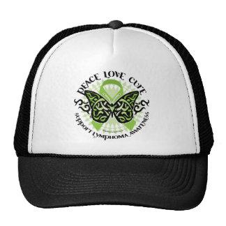 Lymphoma Butterfly Tribal Trucker Hat