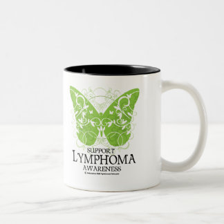 Lymphoma Butterfly Two-Tone Coffee Mug