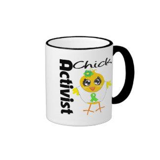 Lymphoma Cancer Activist Chick Ringer Coffee Mug
